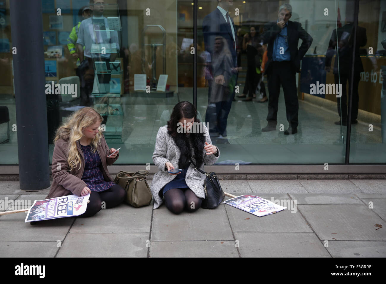 London, UK. 4th November, 2015. A student protest in central London against fees and many other issues. copyright - Stock Image