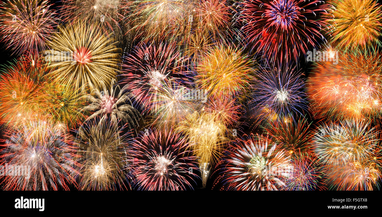border with fireworks stock image
