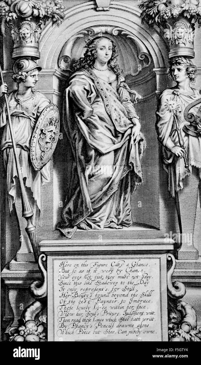 MARGARET CAVENDISH Duchess of Newcastle-upon-Tyne (1623-1673) English scientific writer. Frontespiece from her 'Grounds - Stock Image