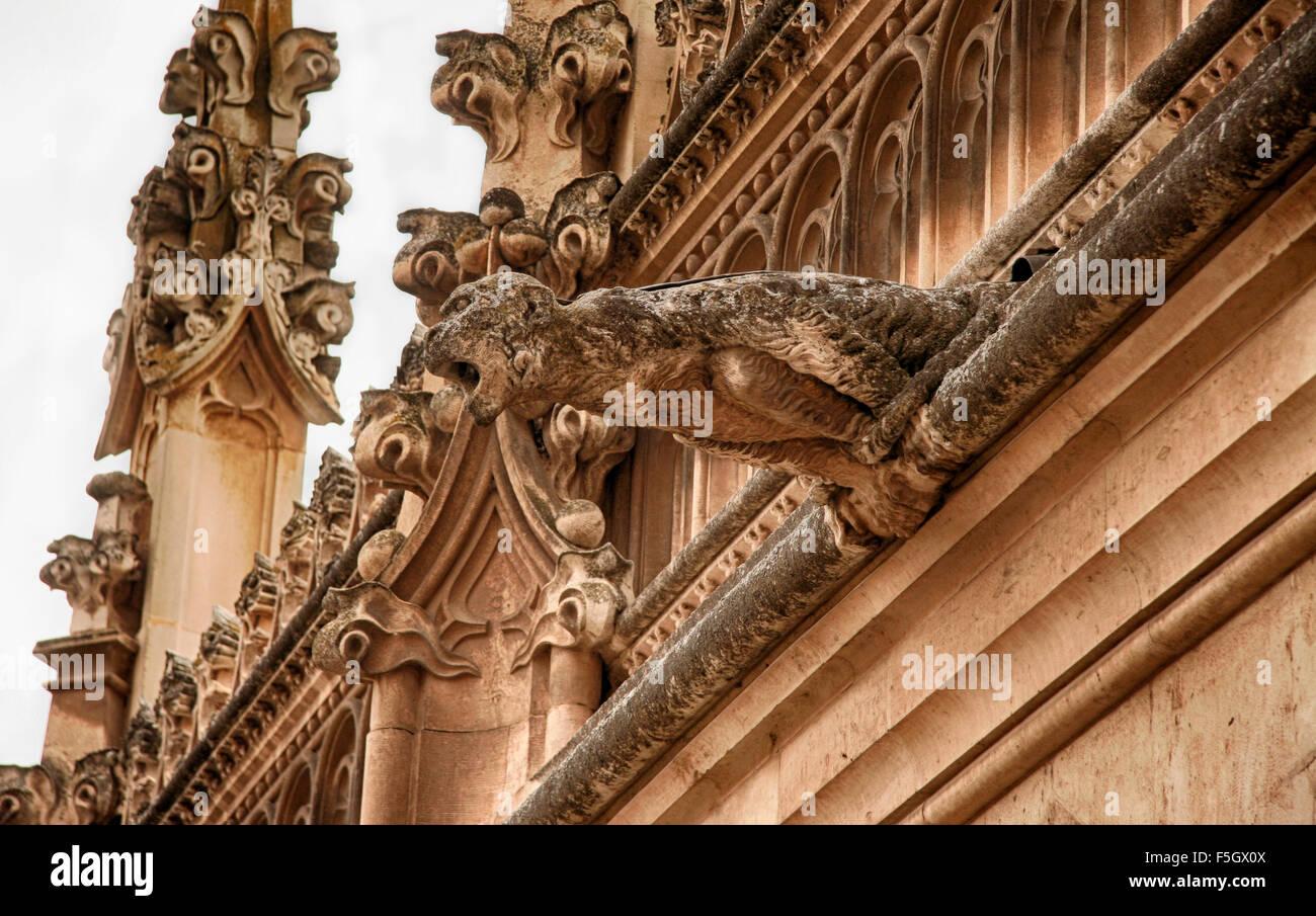 Monastery of Saint John of the Kings gargoyle. Toledo, Spain - Stock Image