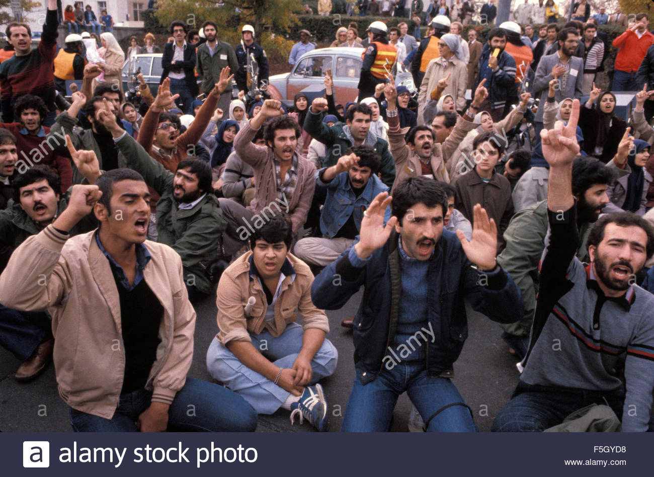 File. 4th Nov, 2015. Iran Hostage Crisis (November 4, 1979, to January 20, 1981) in which militants in Iran seized - Stock Image