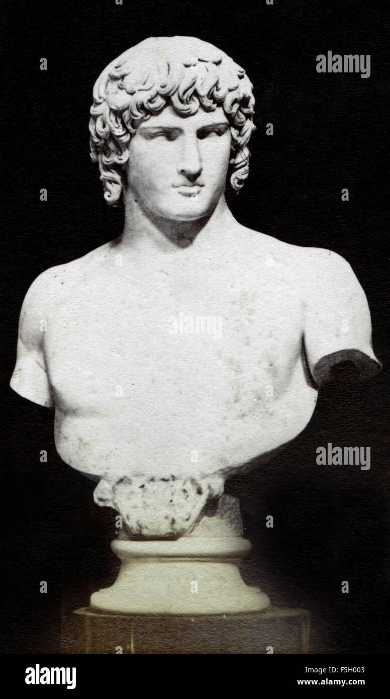 Head of Antinous, the Vatican Museums - Stock Image