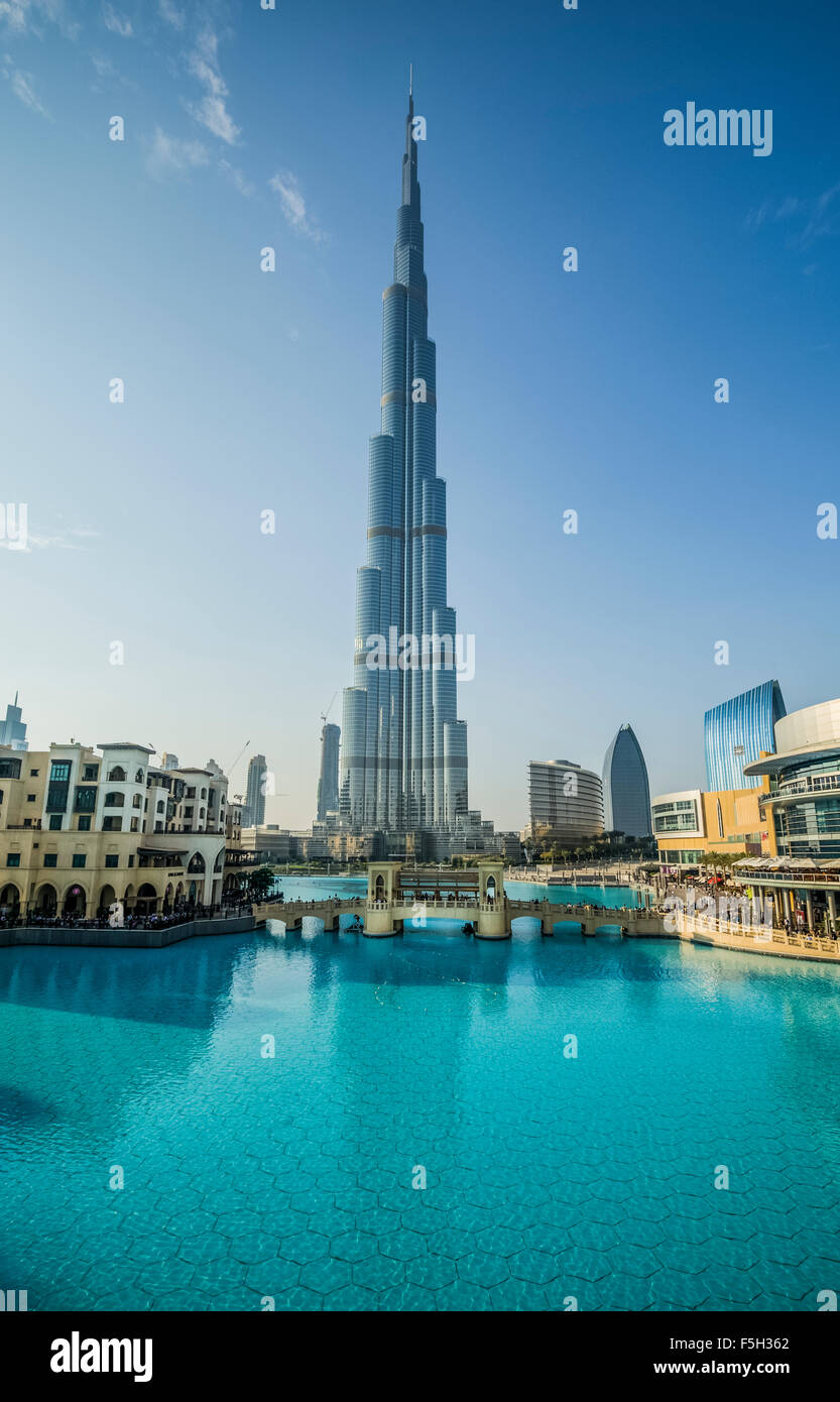 Dubai,The Burj Al Khalifa Tower - Stock Image
