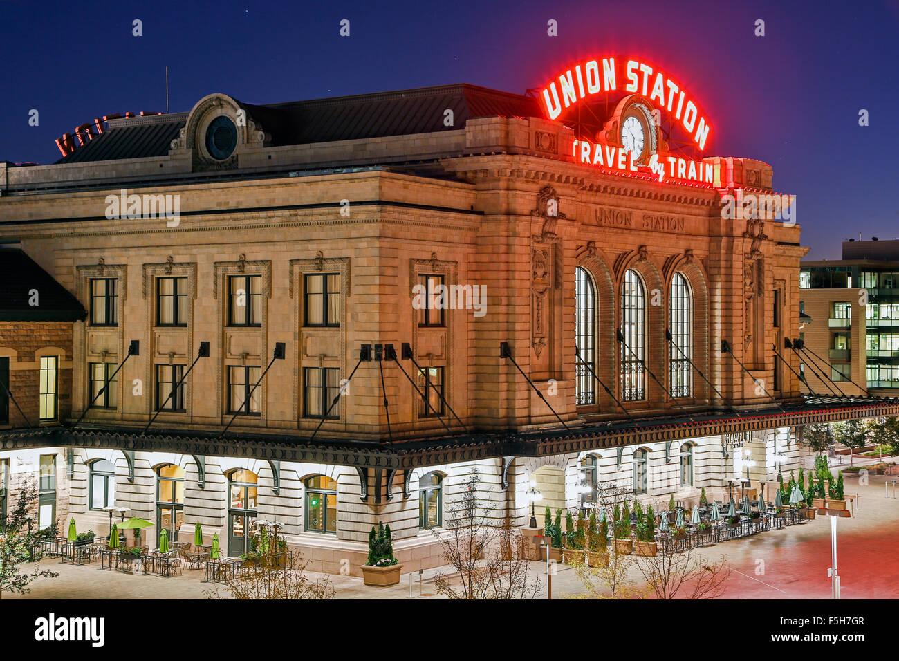 Union Station, Denver, Colorado USA - Stock Image