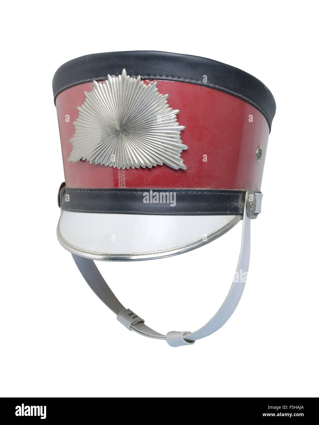 Antique band hat with metal starburst pattern - path included - Stock Image