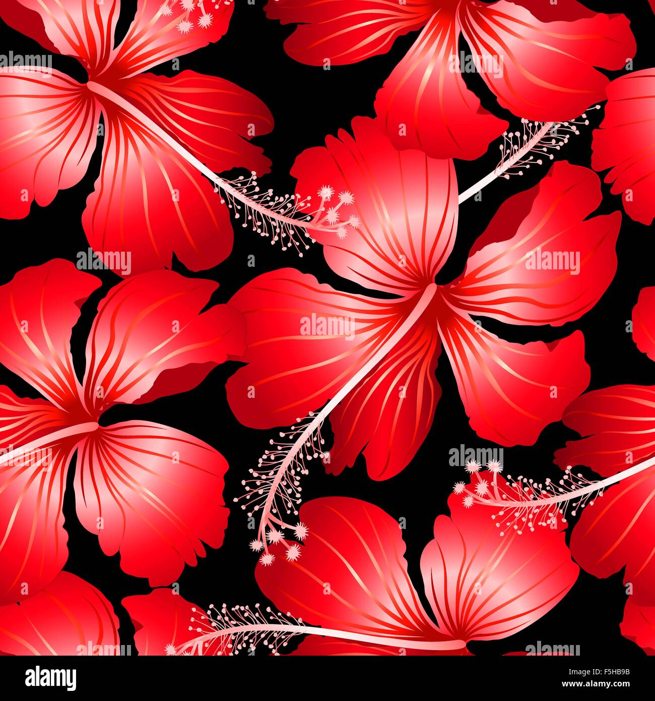 Red tropical hibiscus flowers with black background seamless pattern red tropical hibiscus flowers with black background seamless pattern izmirmasajfo