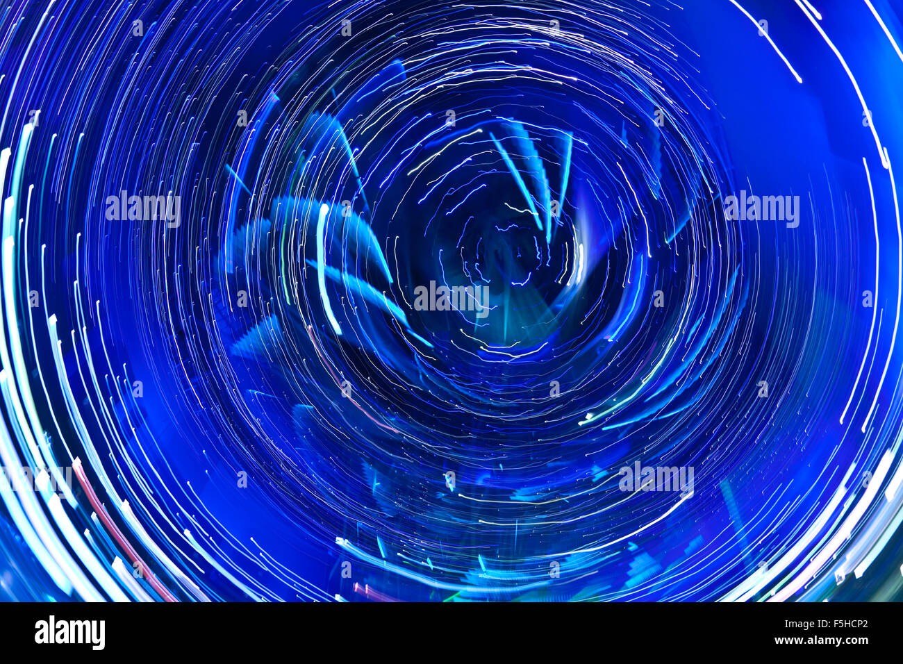 Abstract circular light trails - Stock Image