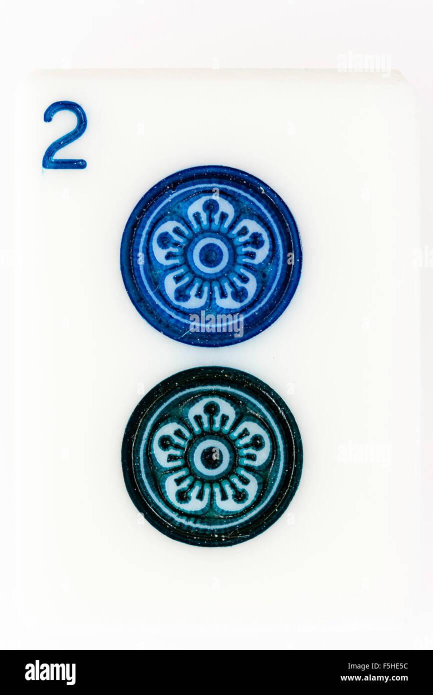 Mahjong Chinese Gambling Game Part Of The Simples Circle Dot Set