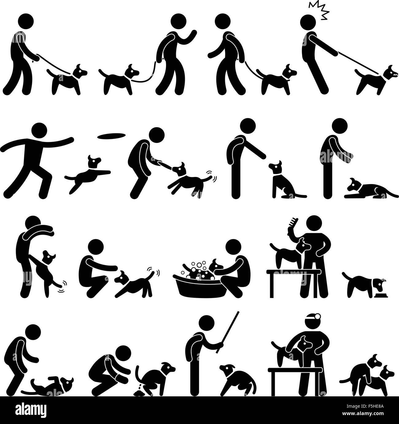 Dog Training Pictogram - Stock Vector