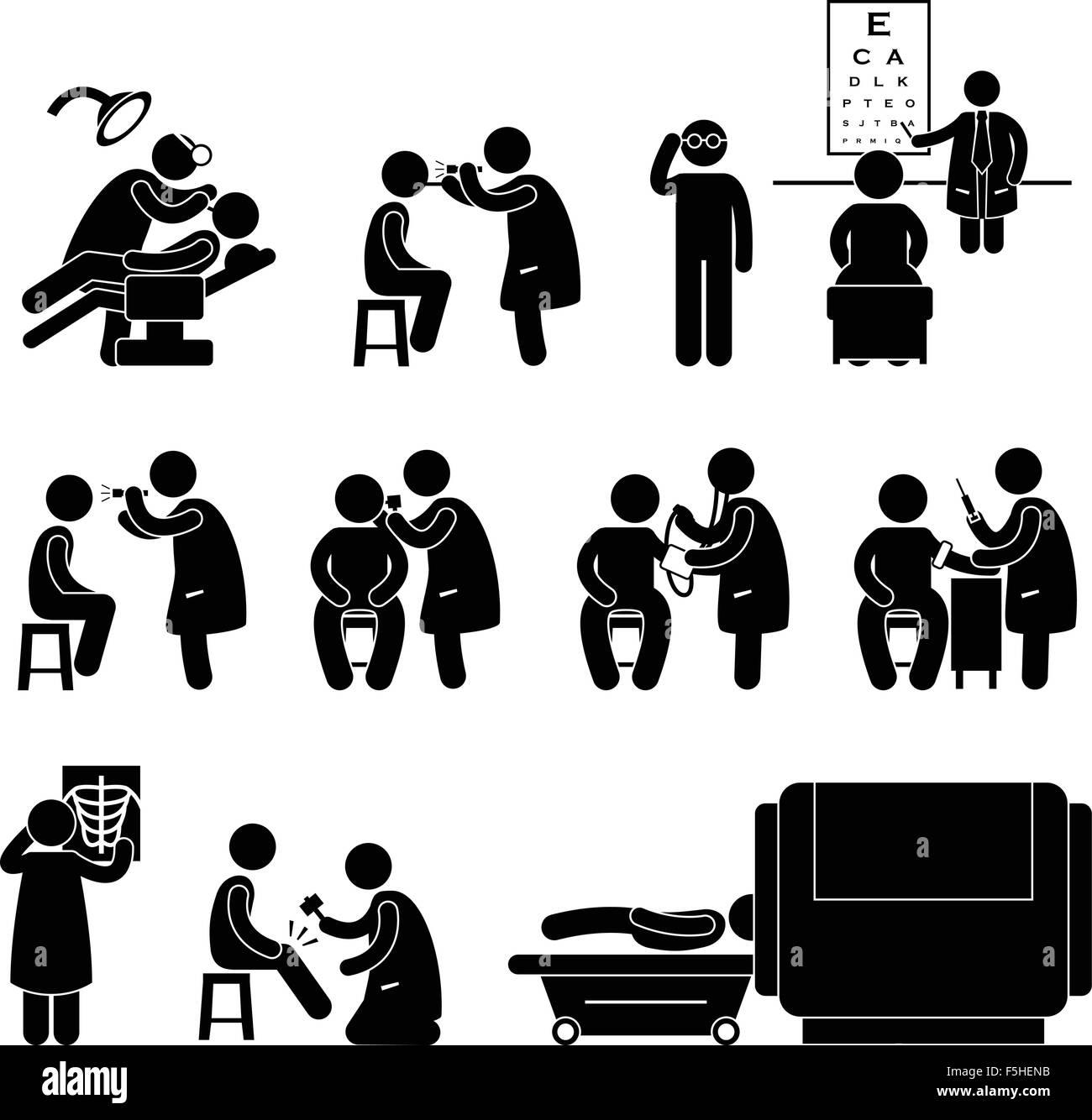 Health Medical Body Check Up Examination Test Icon Symbol Sign Stock