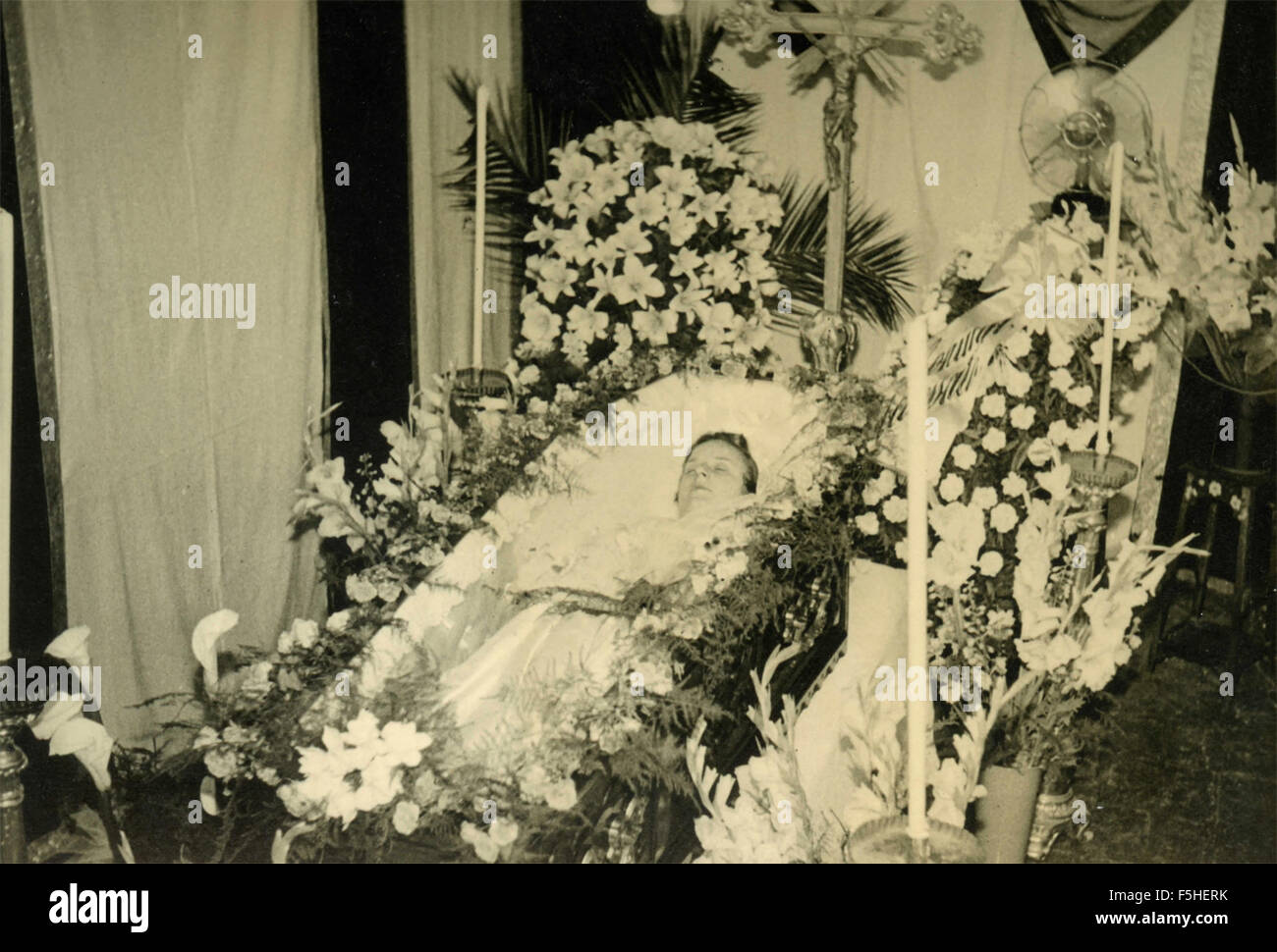 Exposure of the body to a funeral, Italy - Stock Image