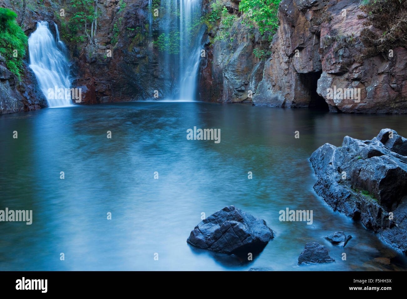 The Florence Falls in Litchfield National Park, Northern Territory, Australia. Photographed at dawn. - Stock Image