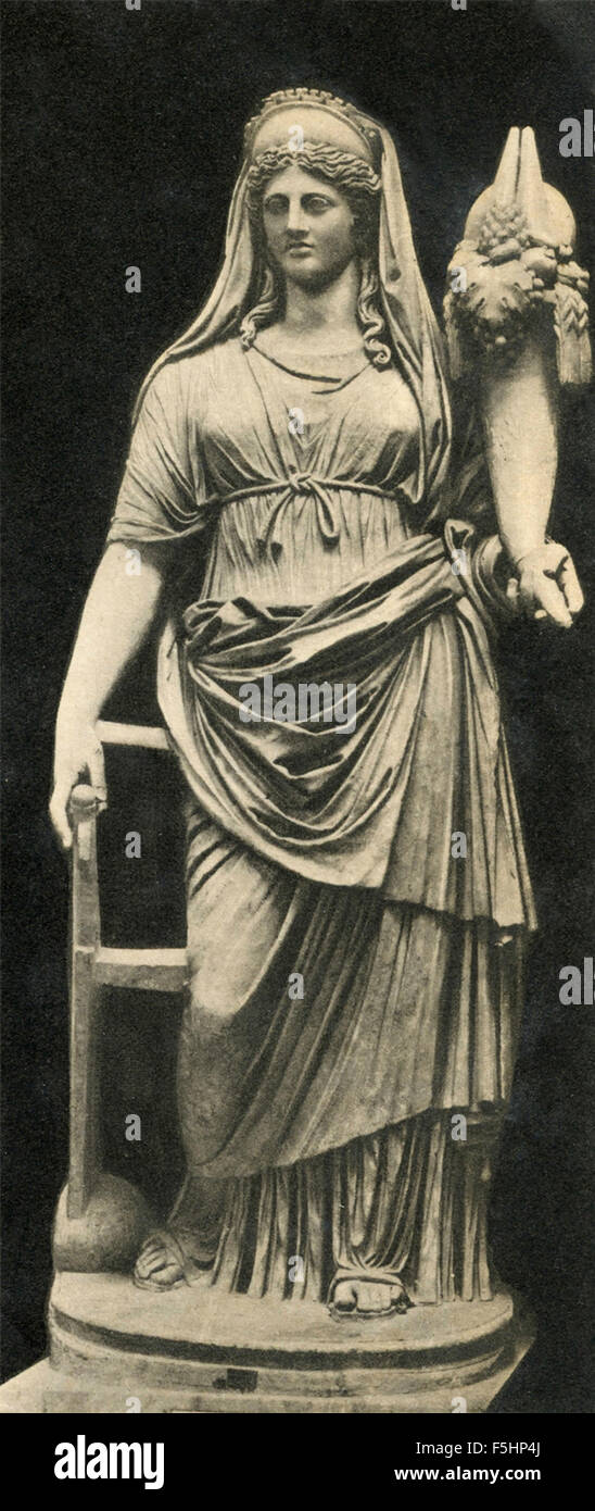 Statue of Demeter ( Ceres) with the Cornucopia - Stock Image