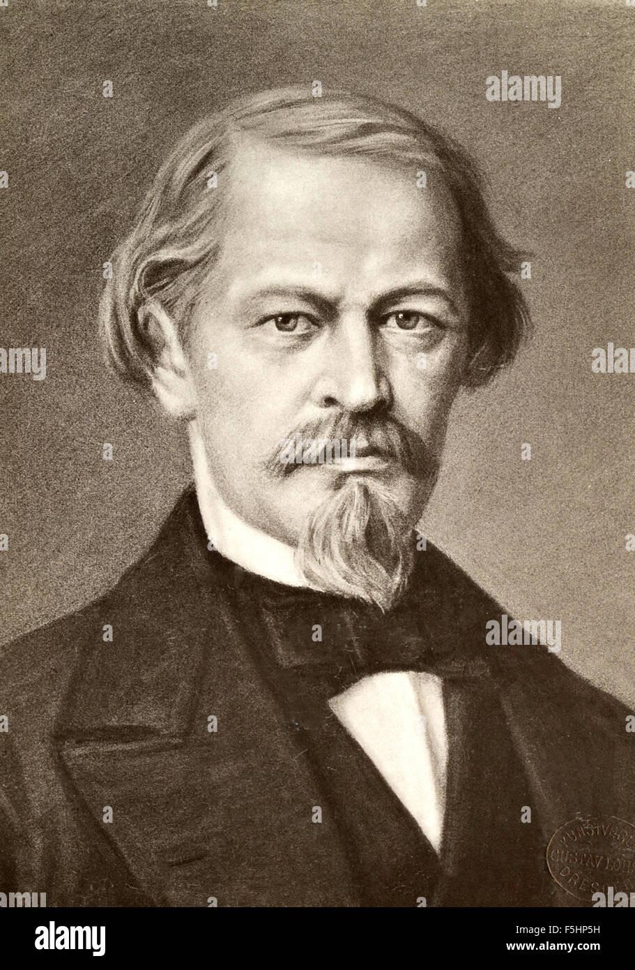 Portrait of German playwright Gustav Freytag - Stock Image