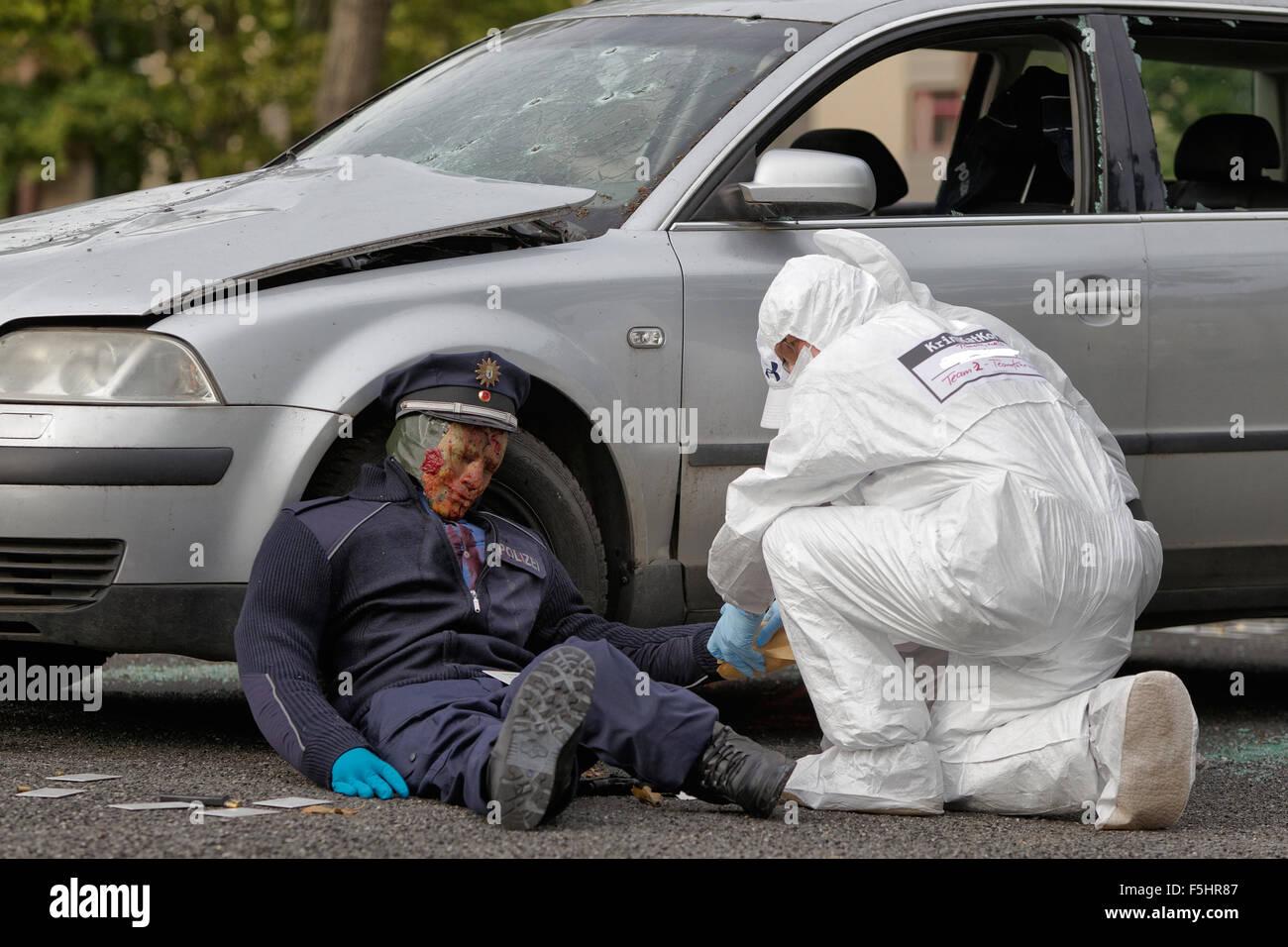 Design Attack Berlin berlin germany polizeiuebung terrorist attack stock photo