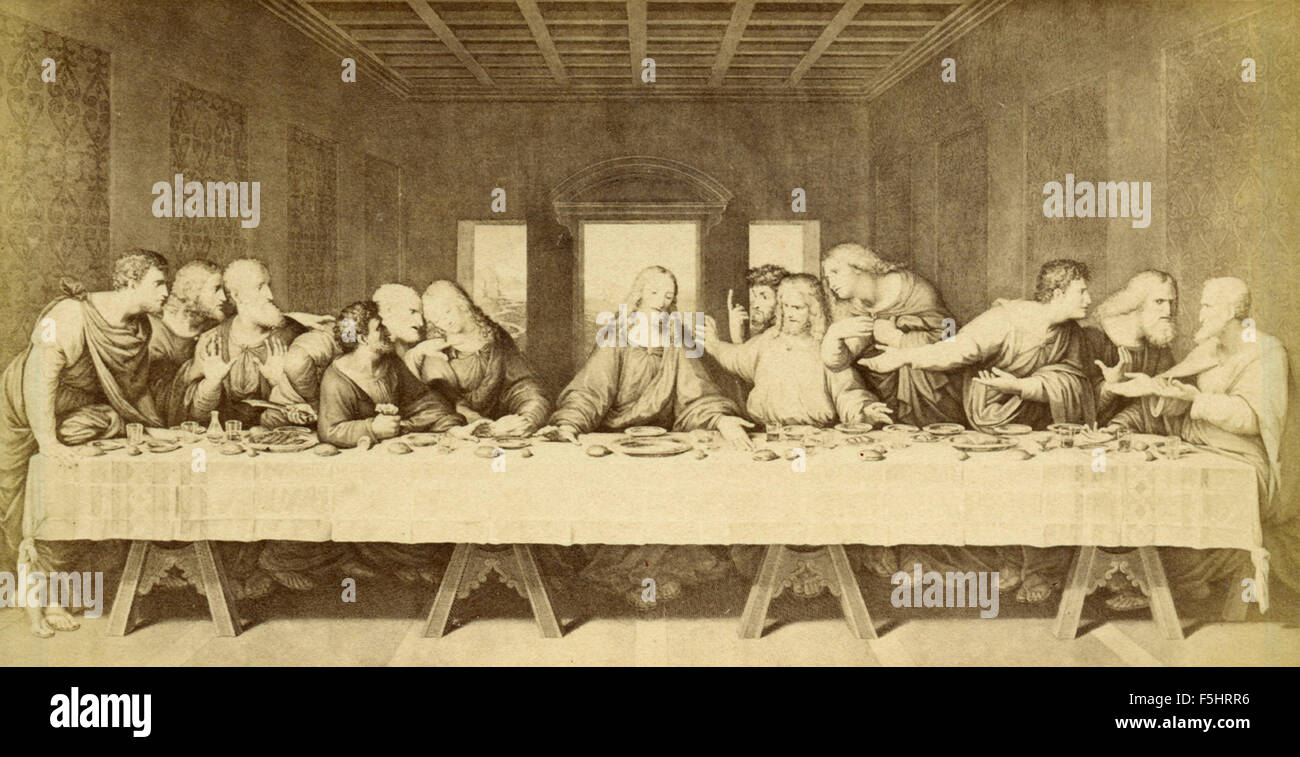 Leonardo Da Vinci Last Supper Stock Photos & Leonardo Da Vinci Last ...