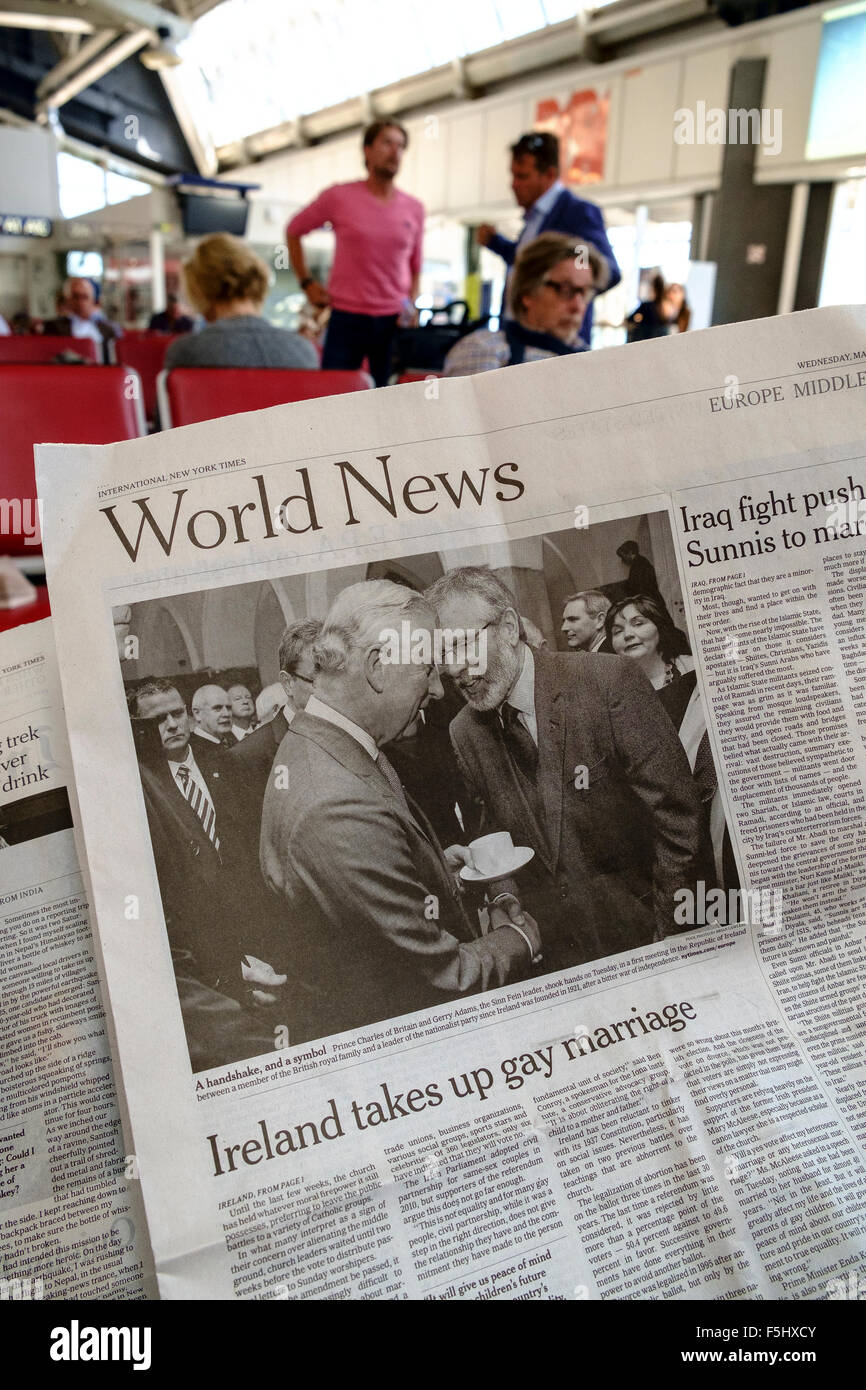 new york times newspaper headlines gay marriage - Stock Image