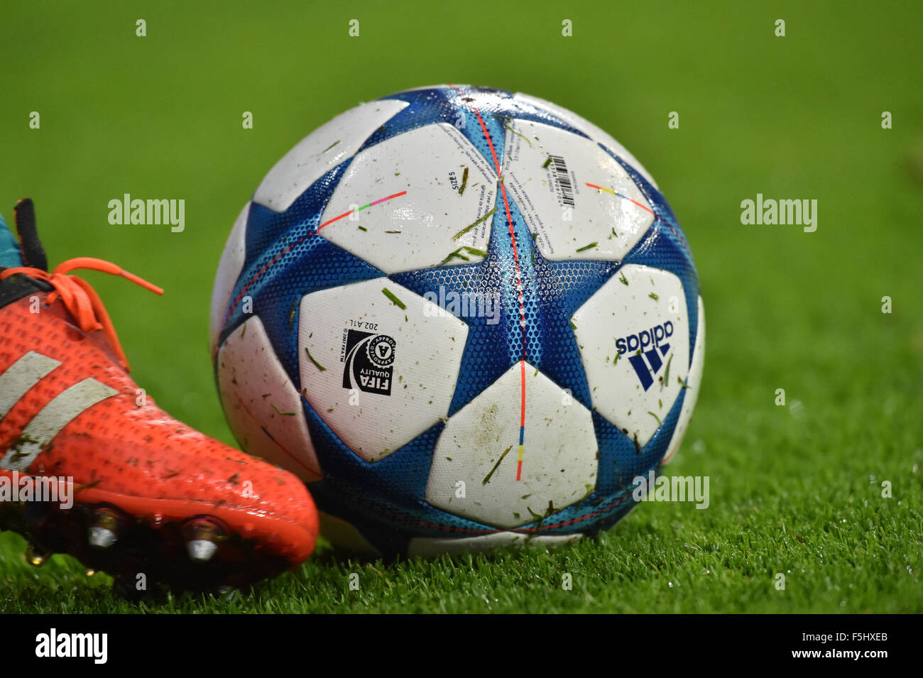 Adidas Champions League Ball In Stock Photos   Adidas Champions ... 76d462cec1077