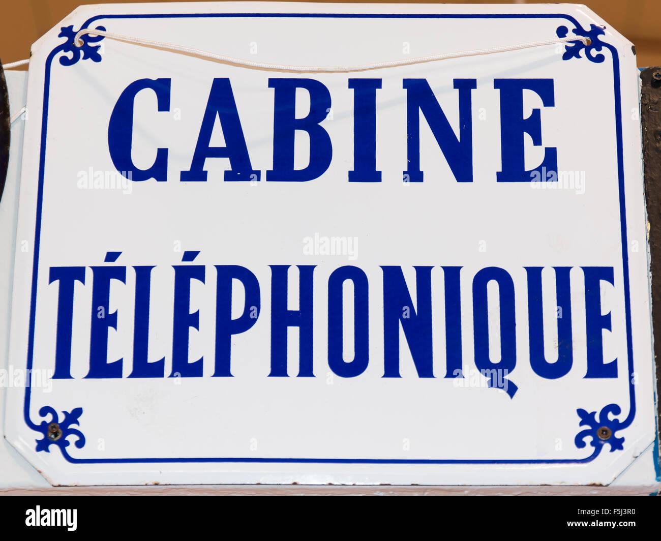 Vintage call box sign - Stock Image