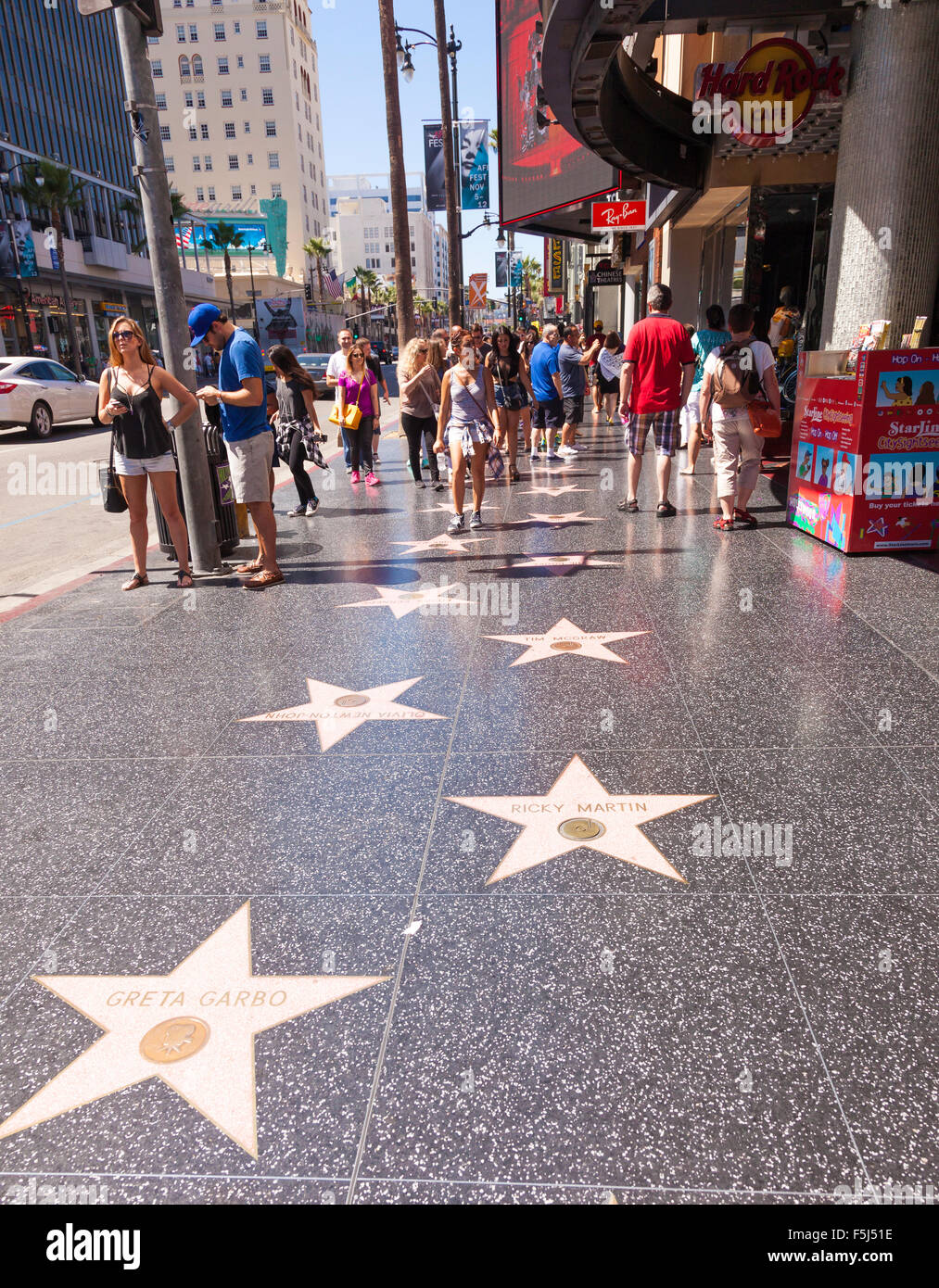 walk of fame or hollywood stars on hollywood boulevard in los stock photo 89524218 alamy. Black Bedroom Furniture Sets. Home Design Ideas