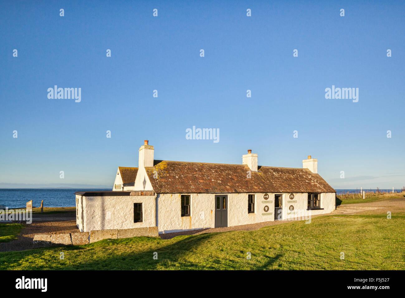 The 'Last House in Scotland' at John o' Groats, Caithness, Scotland. - Stock Image