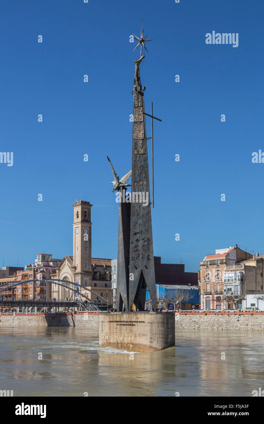 bridge,  catalonia,  ebro,  river,  landscape,  monument,  spain,  europe,  spring,  tarragona,  tortosa,  town, - Stock Image