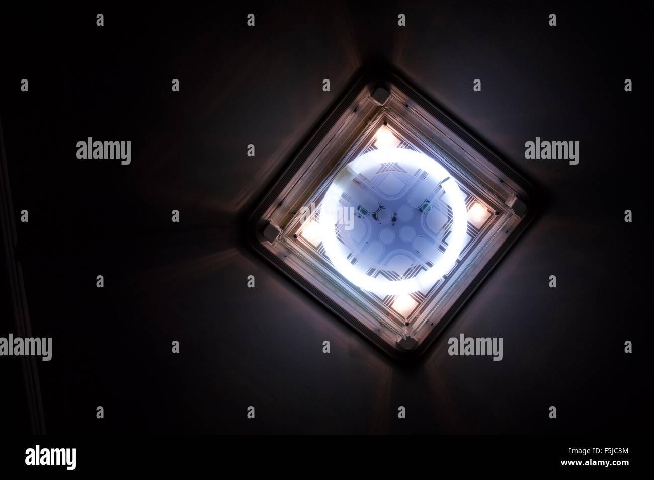 Beautiful designer power saving house LED light bulb - Stock Image