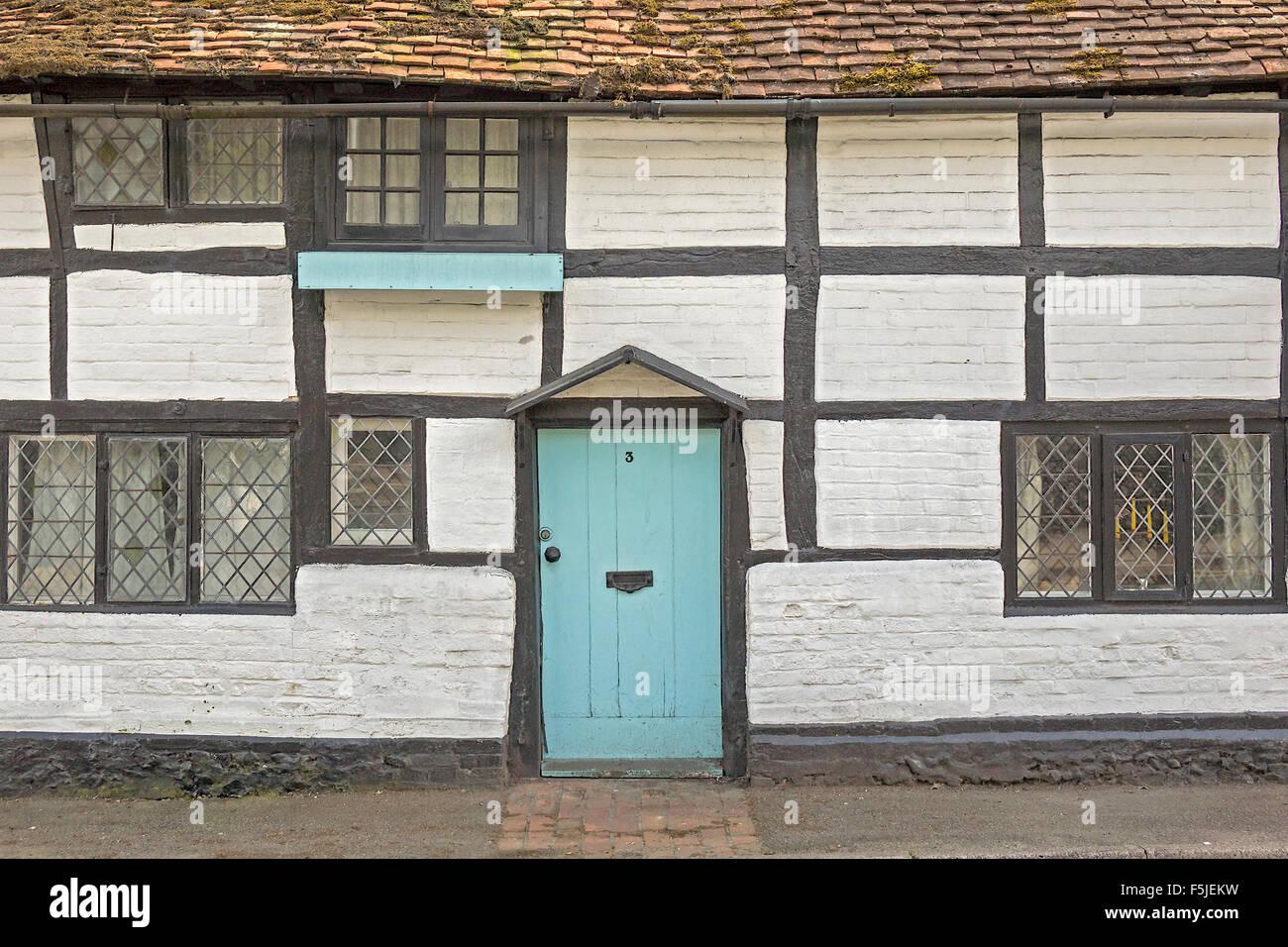 Period wood Framed Cottage Closeup Pangbourne UK - Stock Image