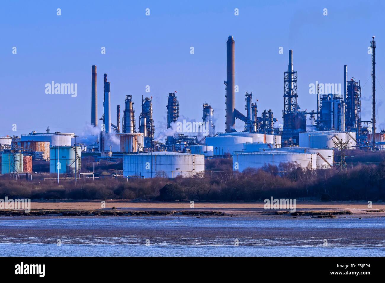 Fawley Oil Refinery Southampton UK - Stock Image