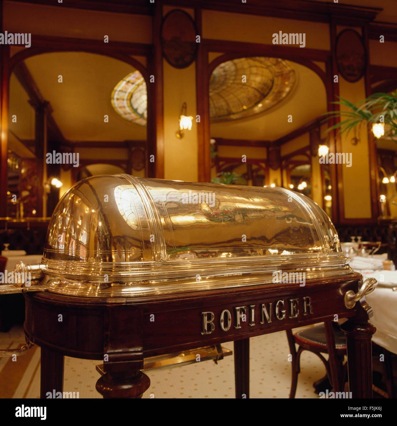 Inside Bofinger Brasserie in Paris, established circa 1864 - Stock Image