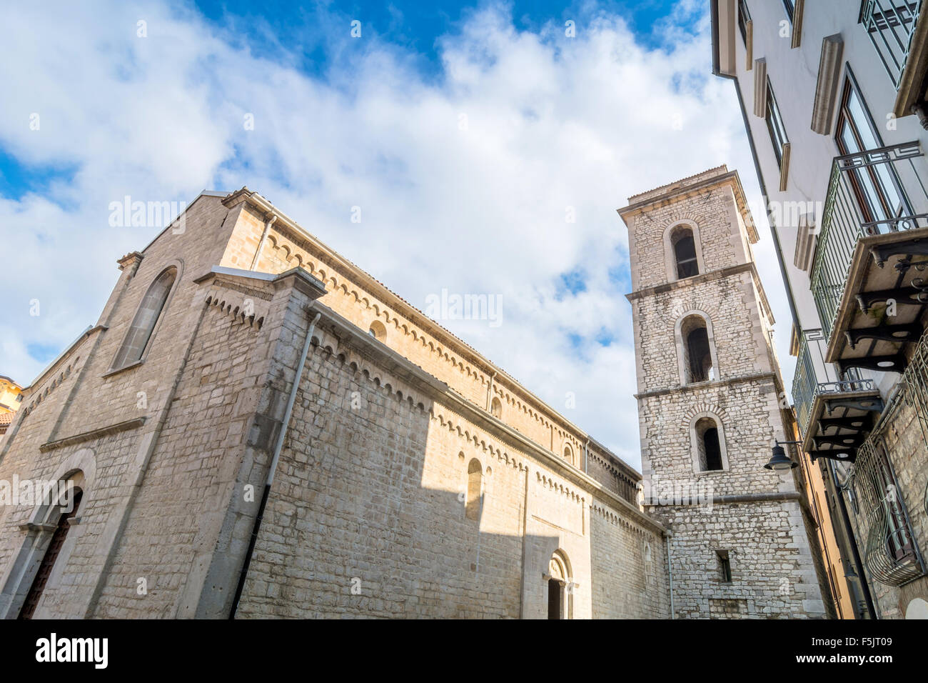 day view of church of San Michele arcangelo in Potenza, Italy - Stock Image