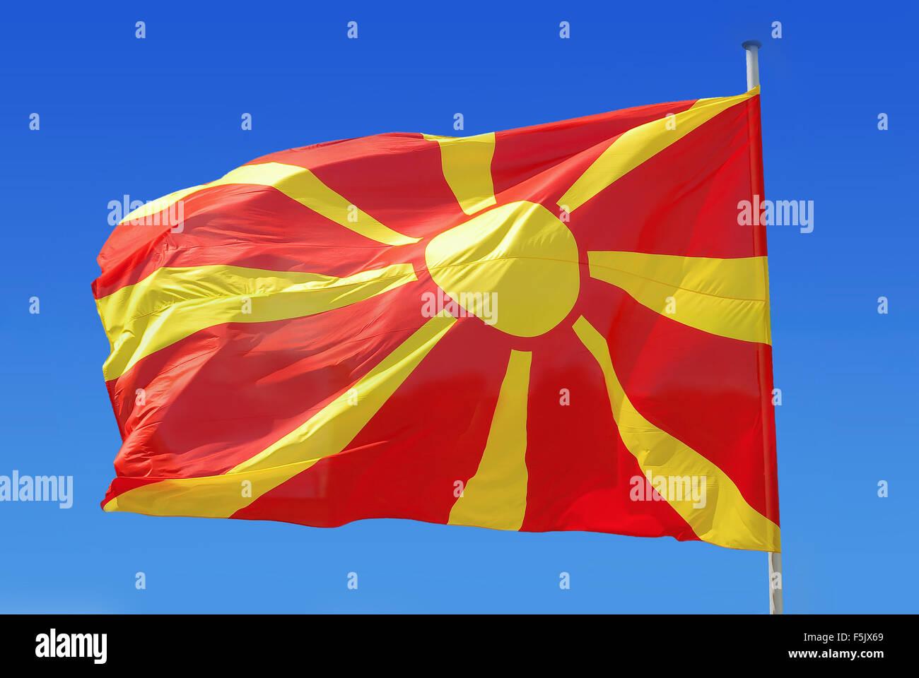 Macedonia flag - Stock Image