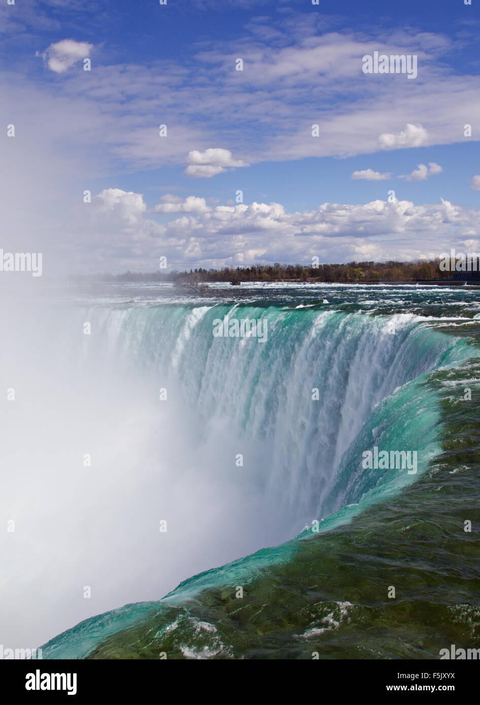The view of the fantastically beautiful Niagara falls Stock Photo