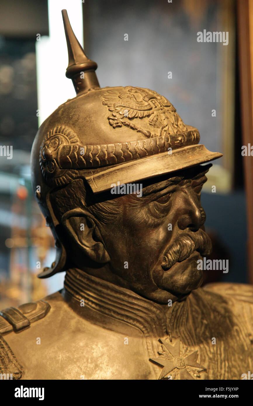 Buste of Otto von Bismarck 1815-1898 Otto Eduard Leopold von Bismarck-Schönhausen - Stock Image