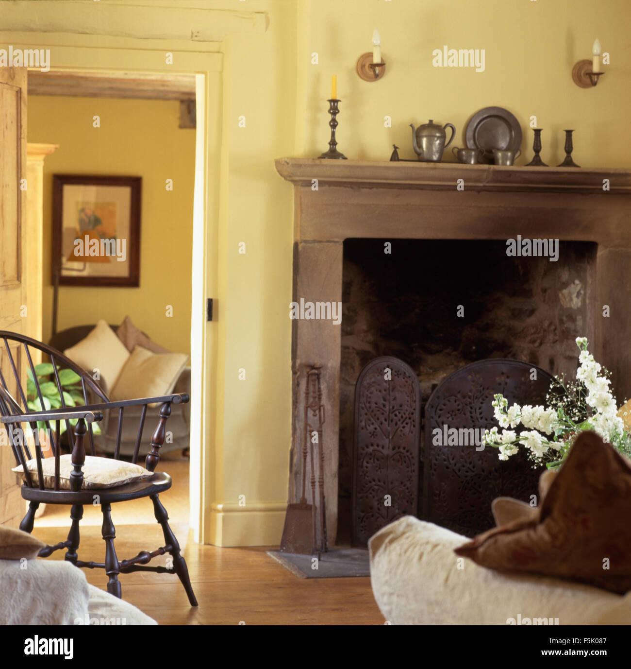 Fireplace Fireplaces Wall Stock Photos & Fireplace ...