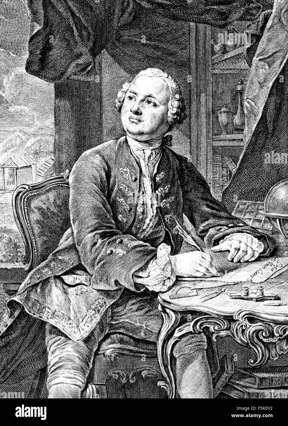 MIKHAIL LOMONOSOV (1711-1765) Russian scientist - Stock Image