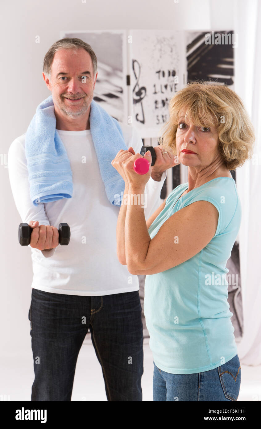 Fitness couple - Stock Image