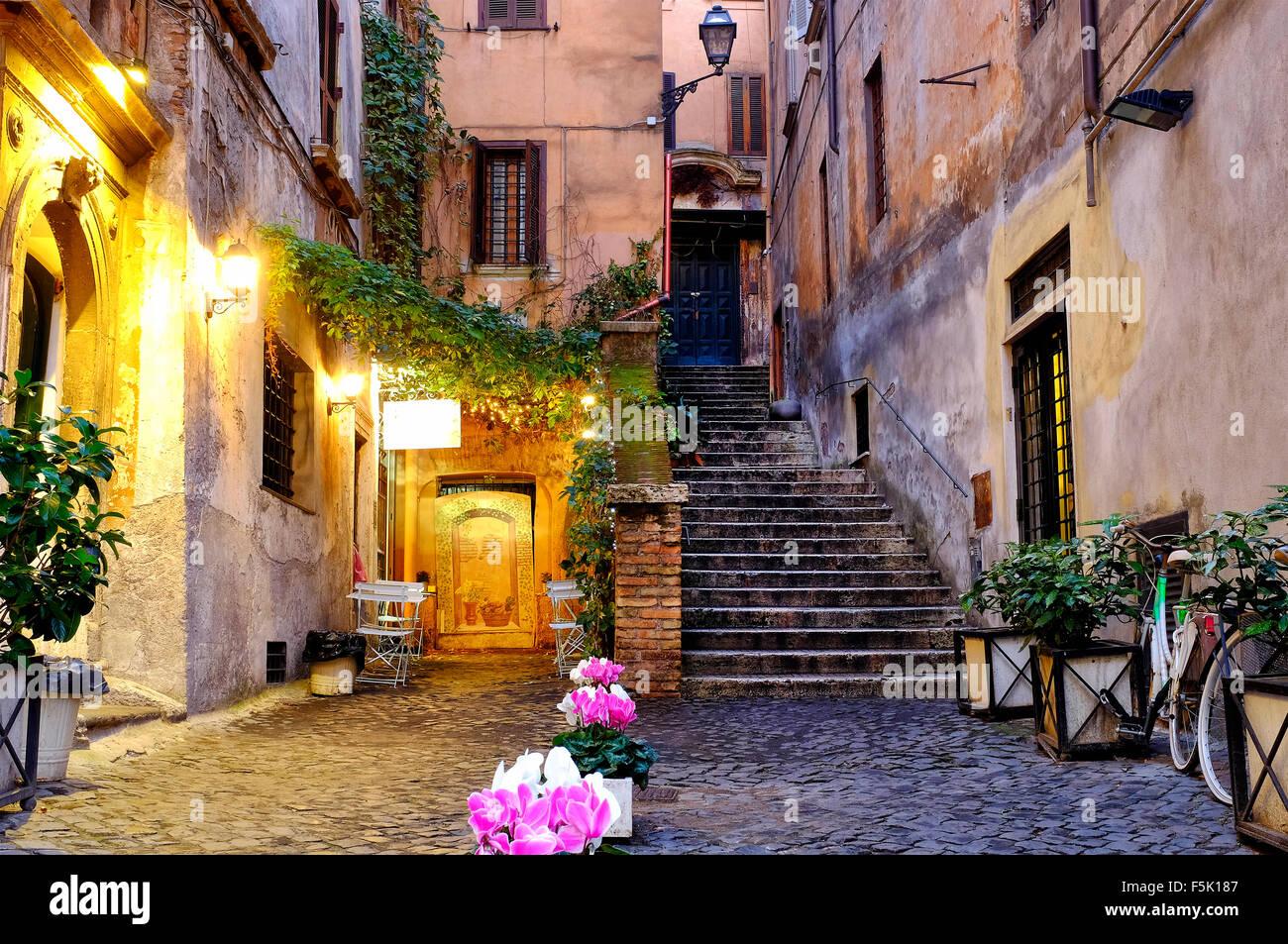 Via di San Simone, Rome Italy - Stock Image