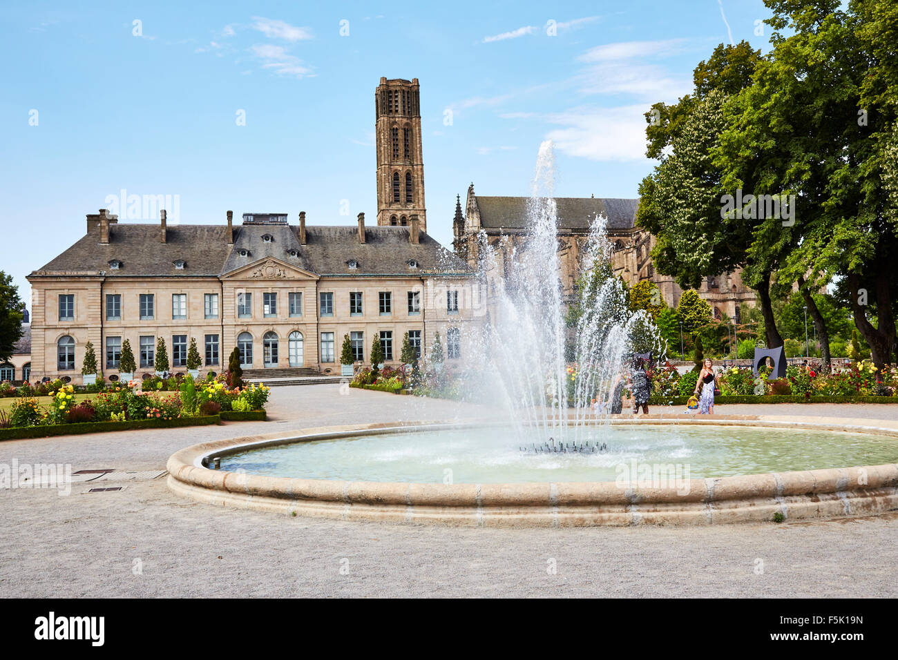 Beaux Arts Museum and Cathedral Saint-Etienne in Limoges, Haute-Vienne, Limousin, France. Stock Photo