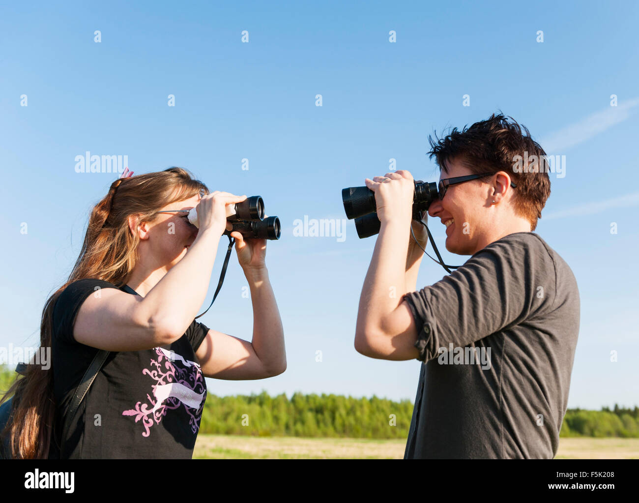 Close observation - Stock Image
