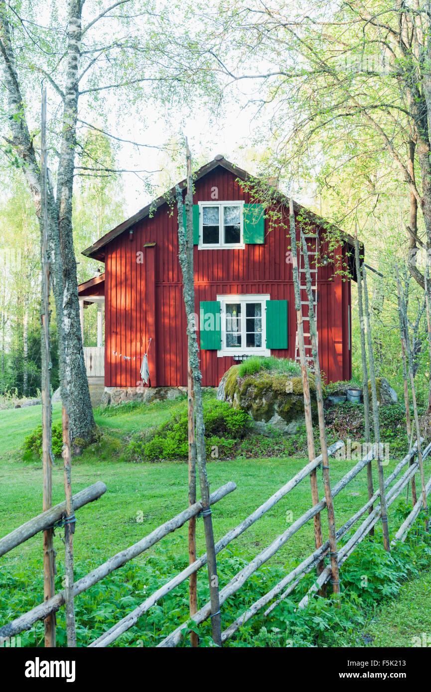 Croft in Sweden - Stock Image