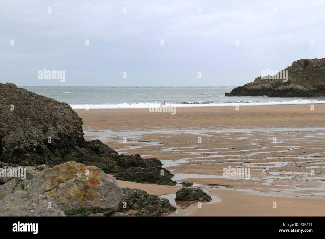 Broad Haven South beach, Bosherston, Pembrokeshire, Dyfed, Wales, Great Britain, United Kingdom, UK, Europe - Stock Image