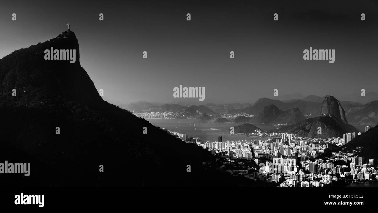 Skyline Rio de Janeiro, Brazil Stock Photo