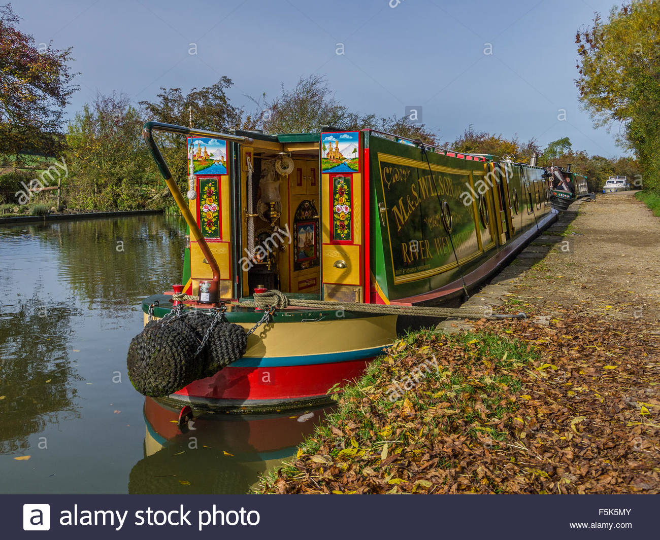 Foxton locks on the grand union canal Leicestershire England UK GB - Stock Image