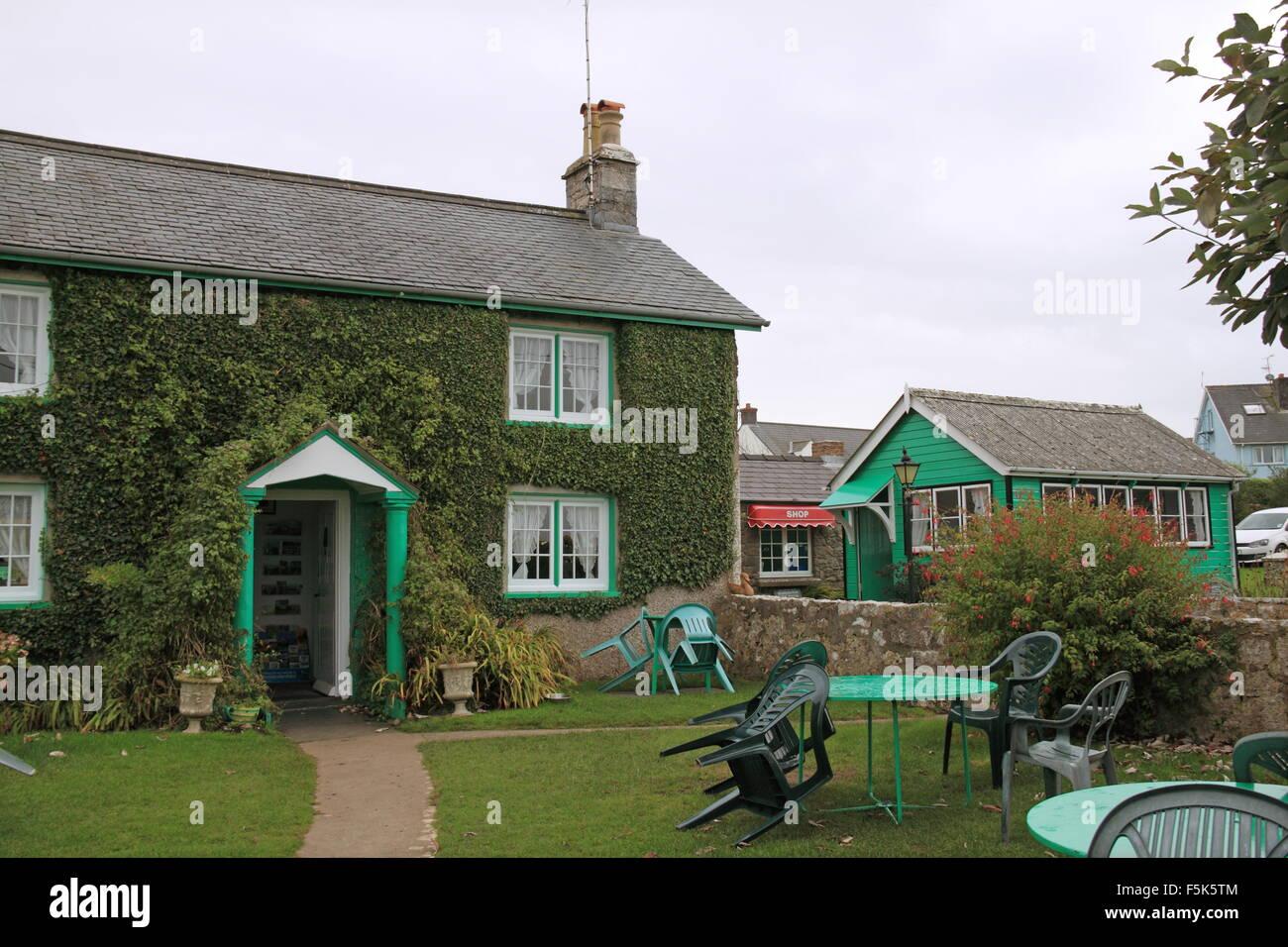 Ye Olde Worlde Cafe (aka Auntie Vi's), Bosherston, Pembrokeshire, Dyfed, Wales, Great Britain, United Kingdom, UK, Stock Photo