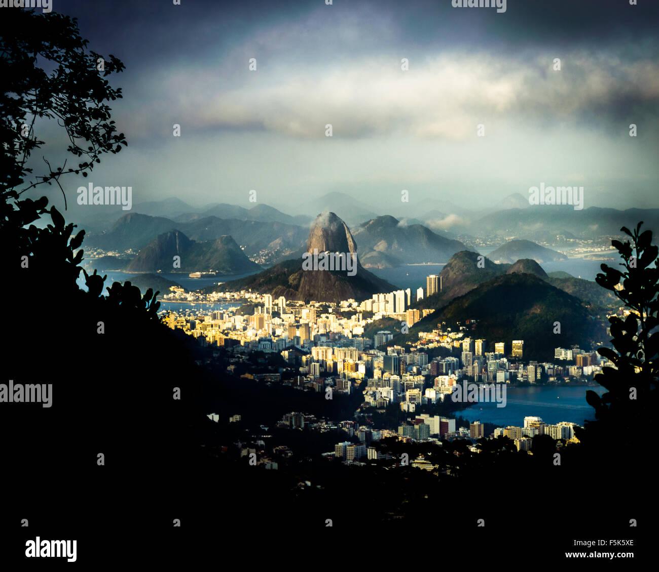 Pao de Acucar (Sugar loaf) Mountain in Rio de Janeiro, Brazil Stock Photo