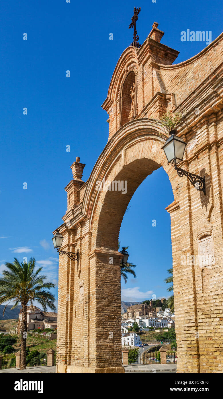 Spain, Andalusia, Province of Malaga, Antequera, Puerta de Granada - Stock Image