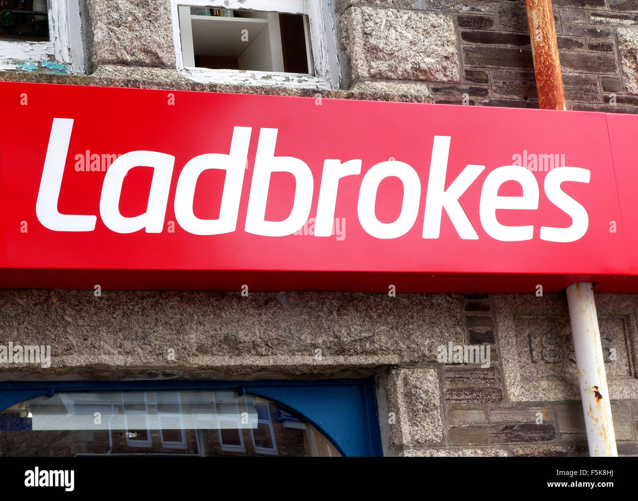 Ladbrokes betting shop - Stock Image