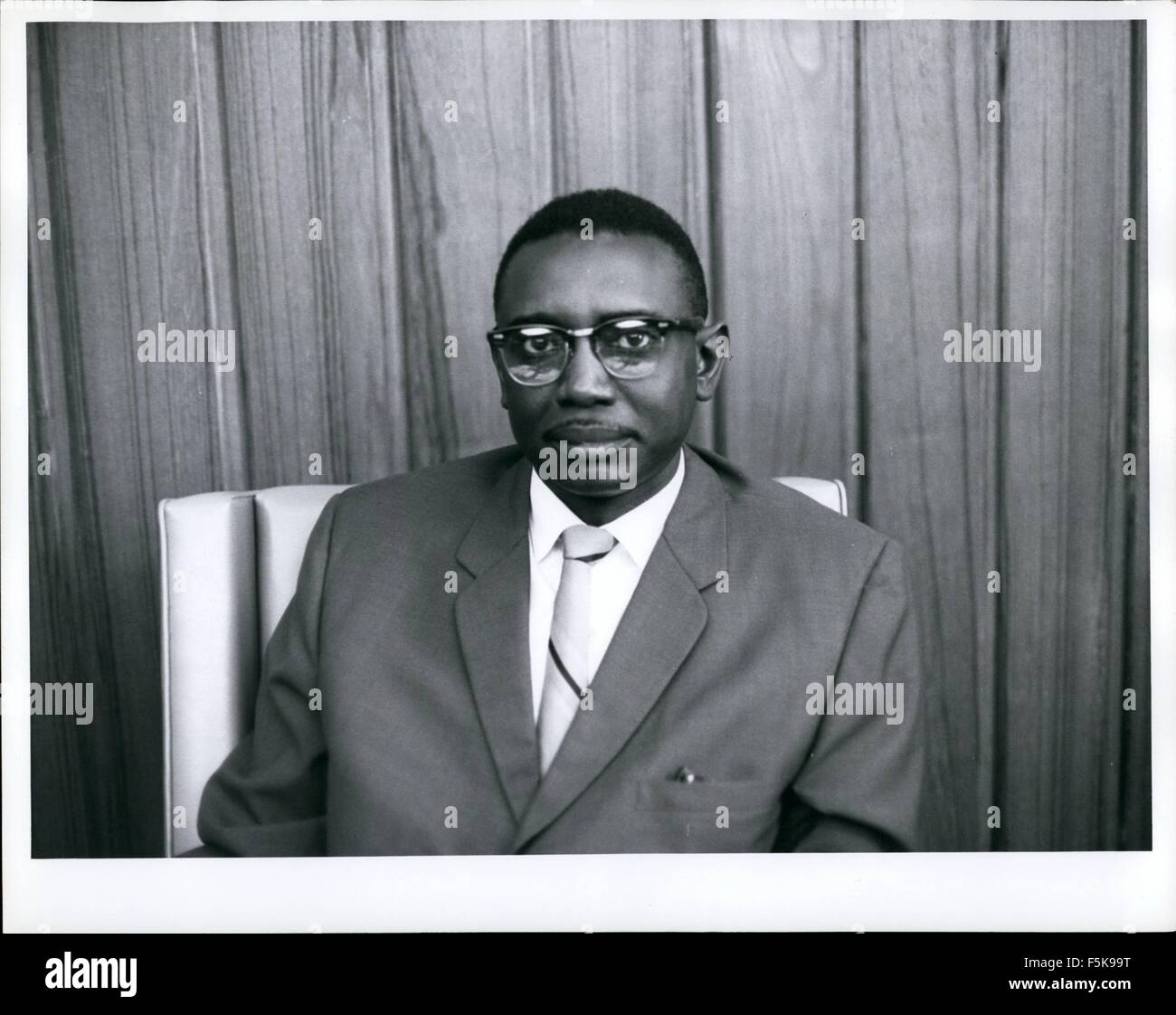 1968 - Monrovia, Liberia - Rudolph Grimes, Secretary of State, 43 years old, education: B.A. University of Liberia; - Stock Image