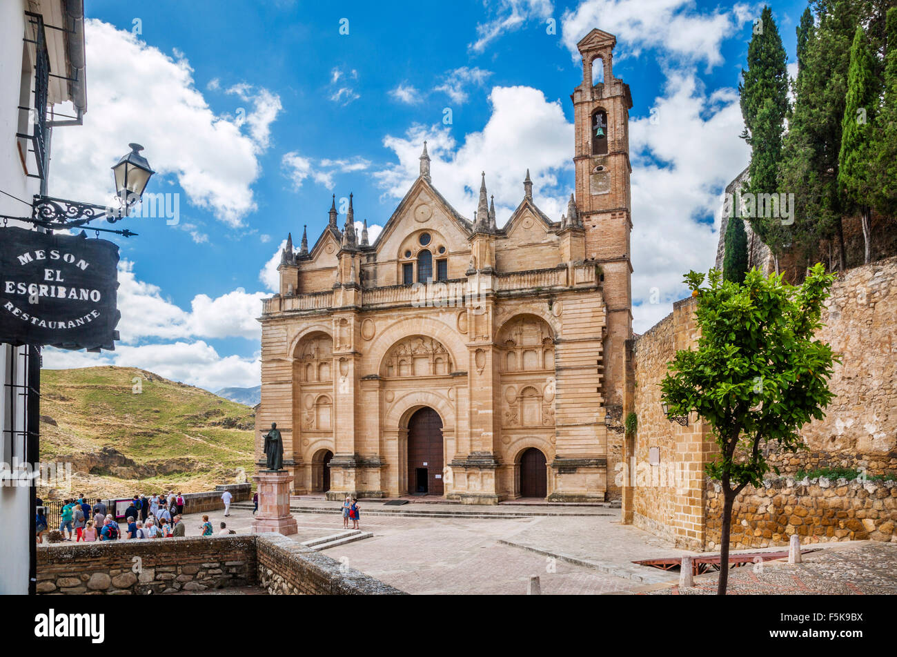 Spain, Andalusia, Province of Malaga, Antequera, Royal Collegiate Church, Church of Real Colegiata de Santa Maria - Stock Image